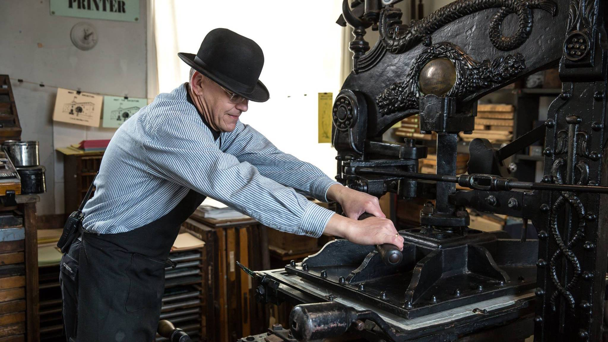 Museum of Lincolnshire Life print press