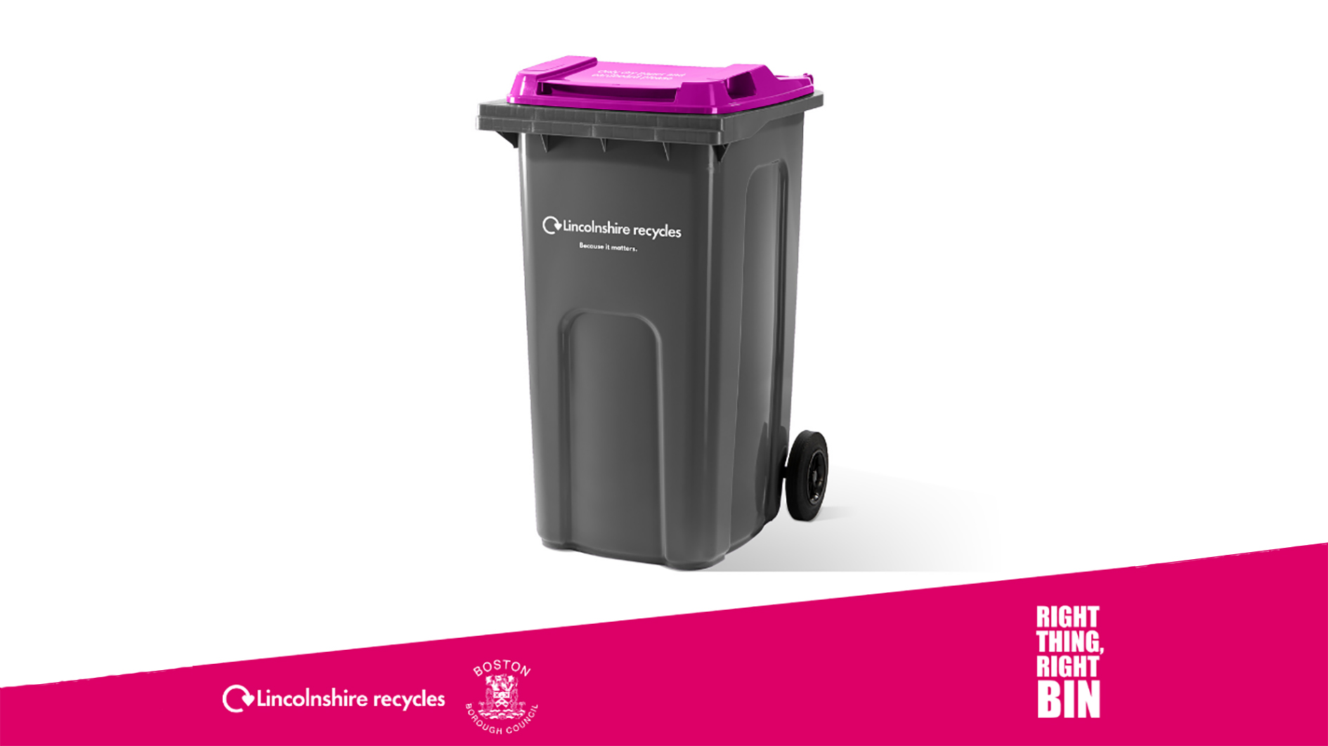 Image on the purple lid black bin residents will receive.