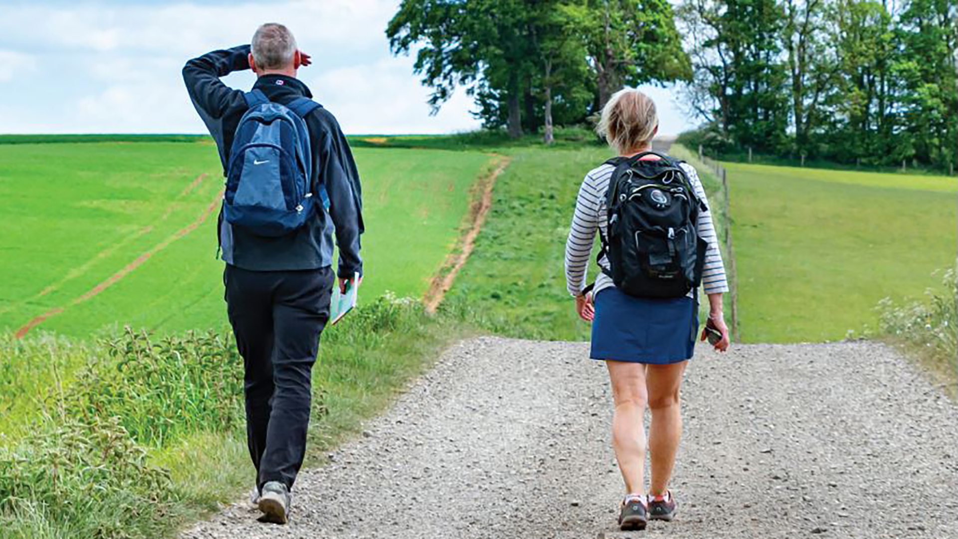 Image of man and woman walking