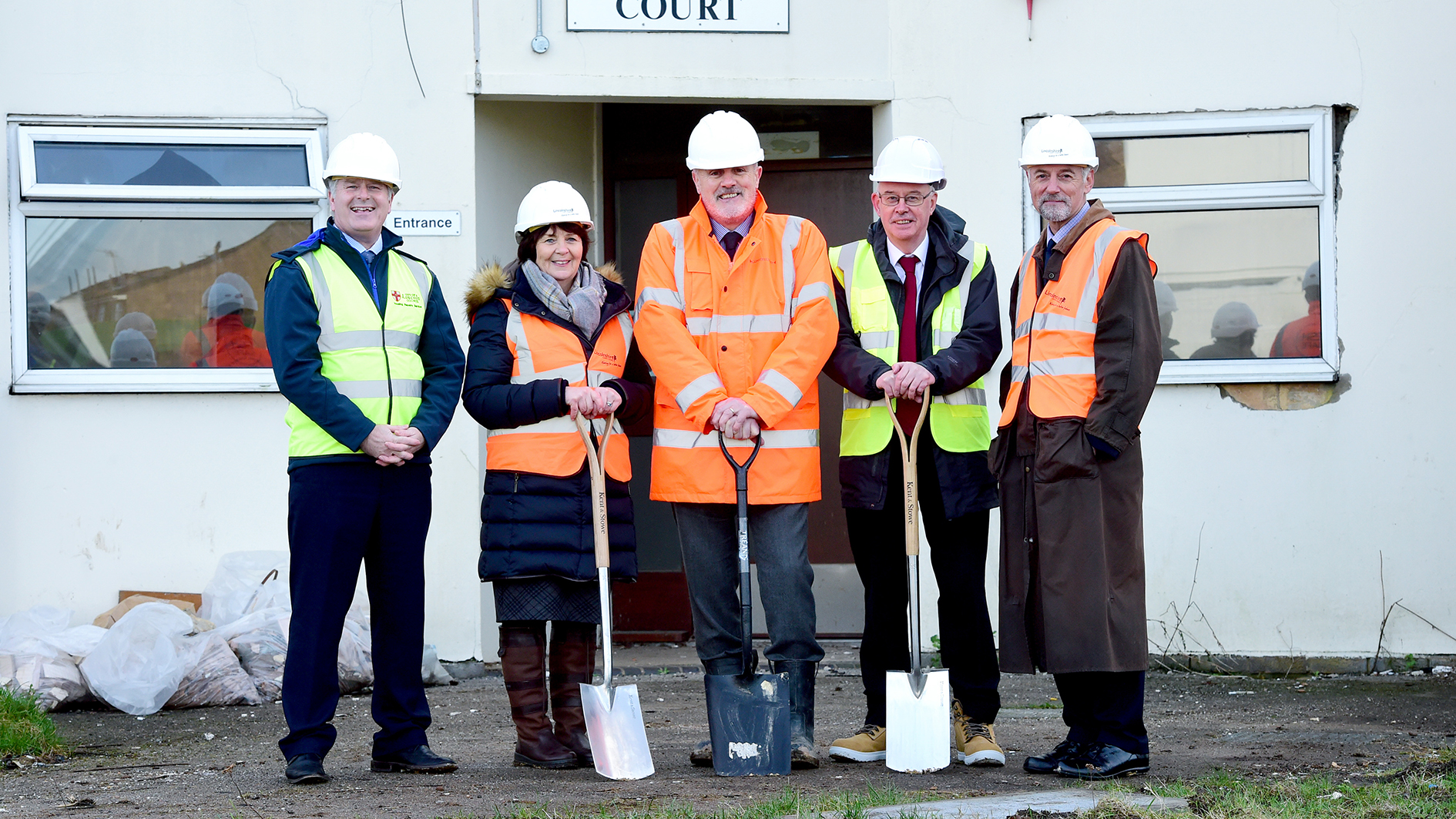 Groundbreaking at De Wint Court in Lincoln