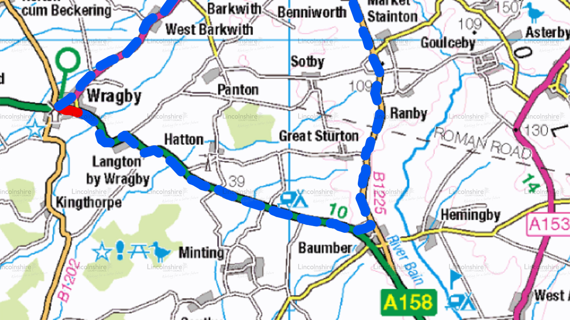 Diversion Route - A157 Wragby