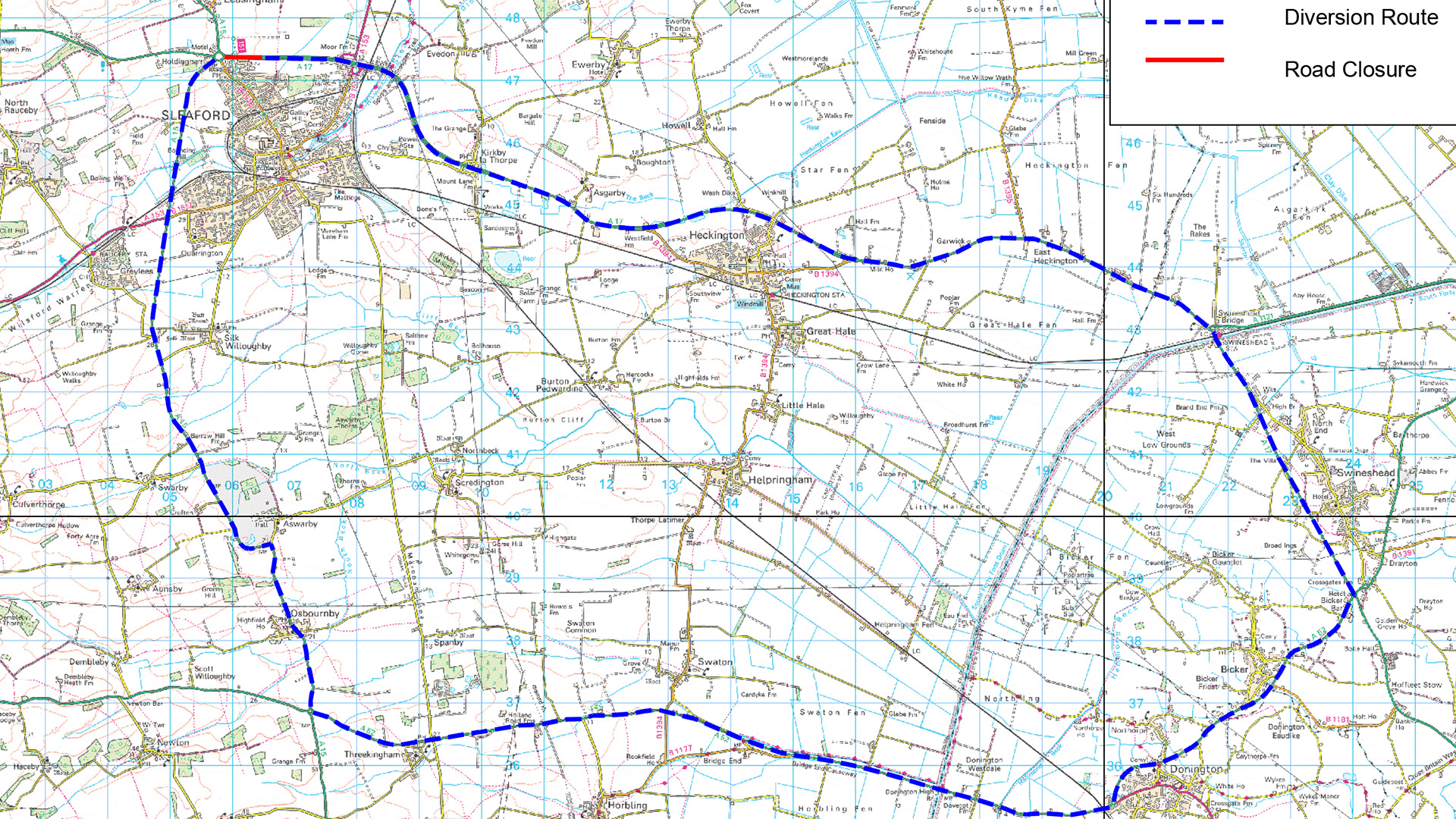 Diversion Route - A17 East