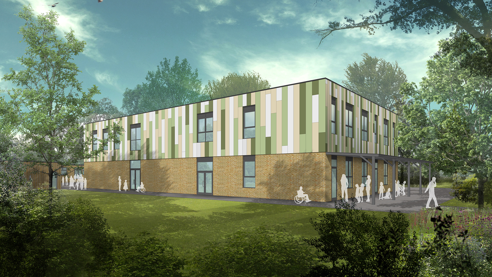 Artist impression of work at Eresby Special School