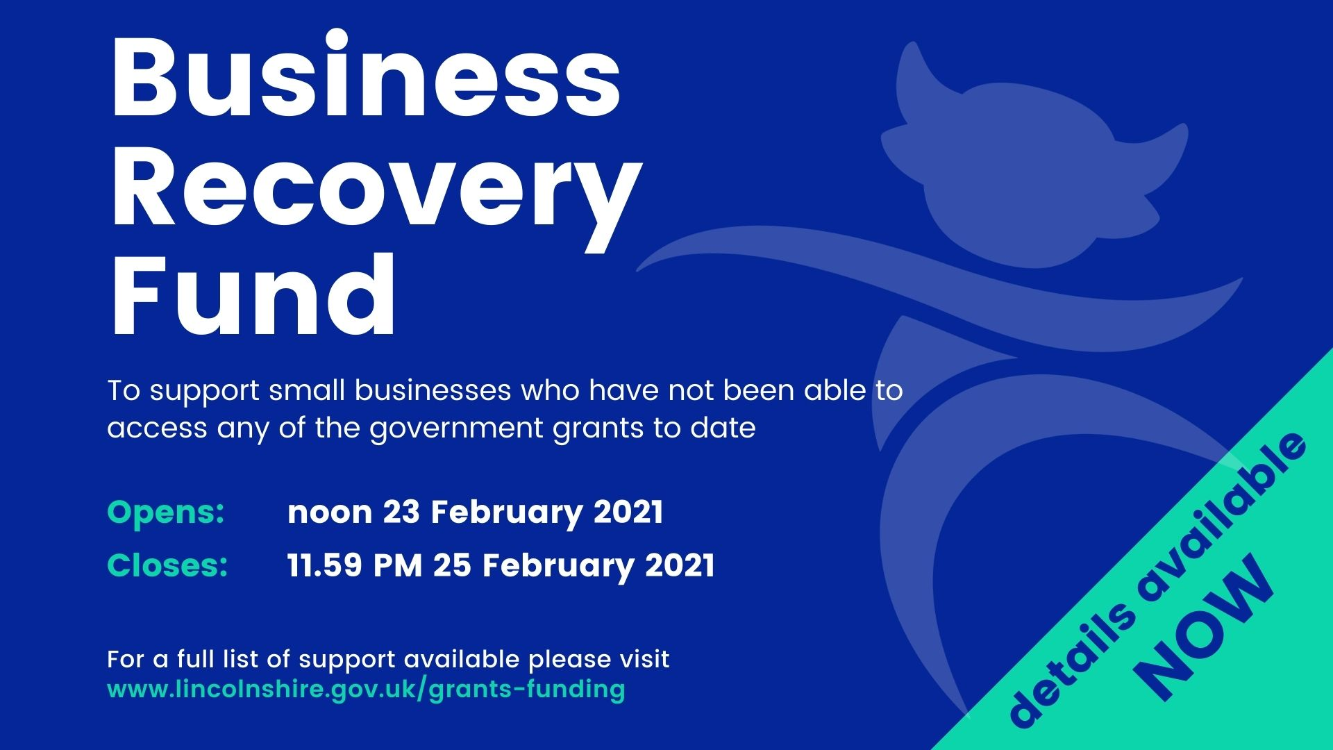 Business Recovery Fund - details available