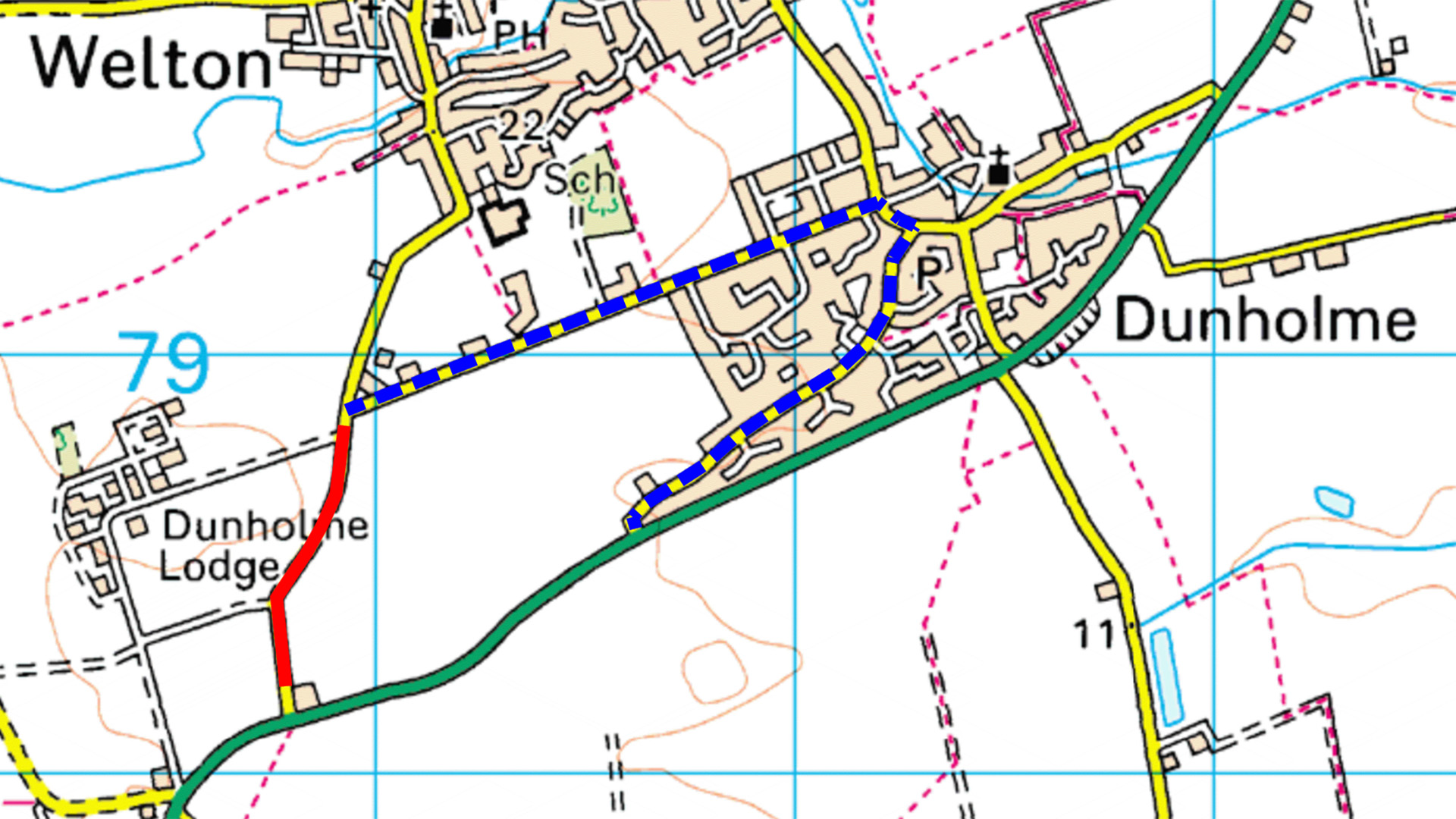 Welton Diversion Route - Lincoln Road