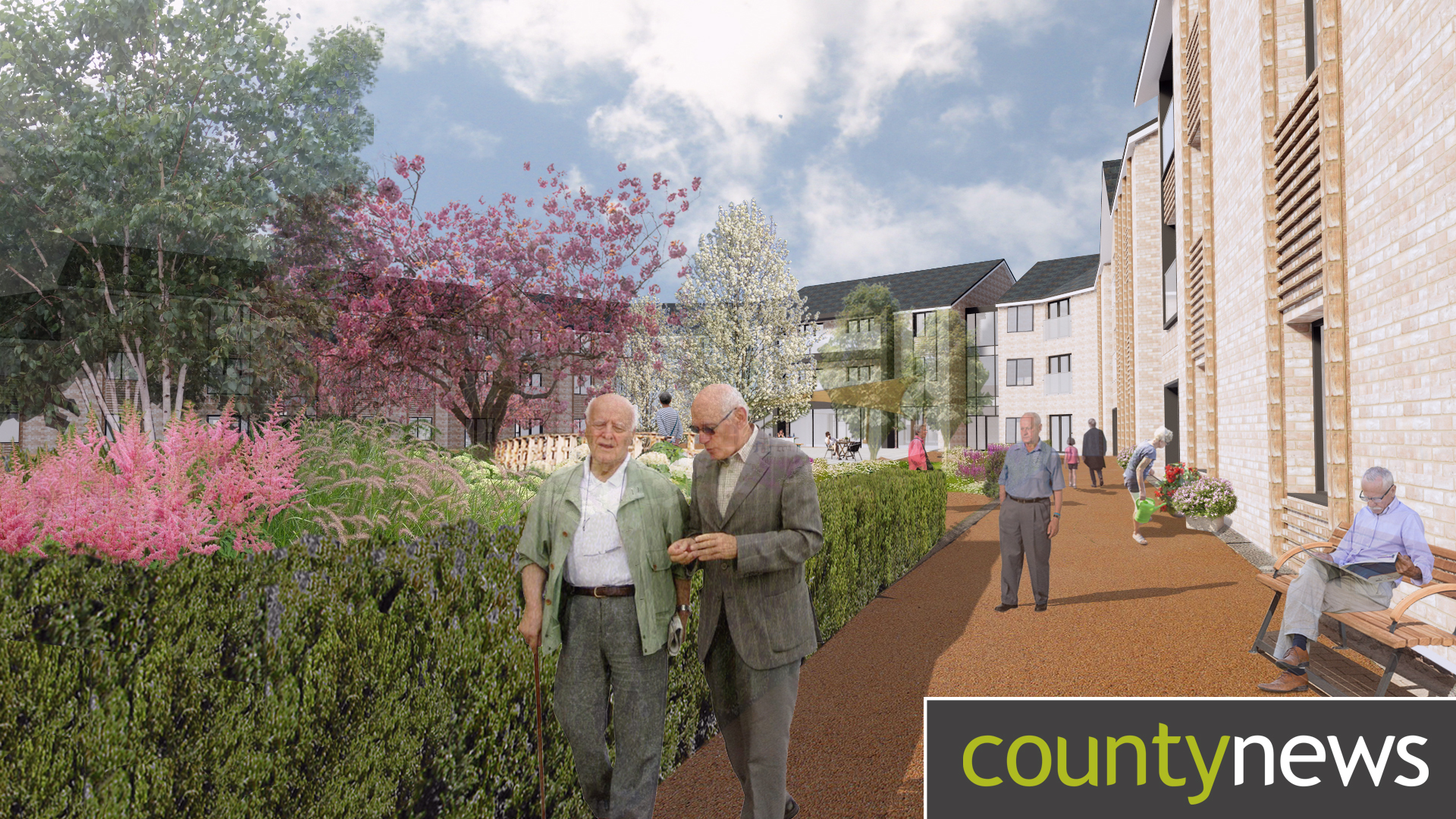 A design concept for a care home in the county.